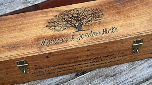 Rustic Wedding Wine Box - Wine Capsule - Wedding Capsule - Rustic Wedding - Shabby Chic Wedding - Lockable Wine Box - Personalized Wine Box