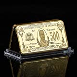 us gold bar - 1928 1 Ounce Gold Bar William McKinley Gold Clad $500 Brilliant Uncirculated