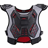 ZZ Lighting Kids Chest Protector Body Armor Vest Protective Gear for Dirt Bike Snowboarding Motocross Skiing, M