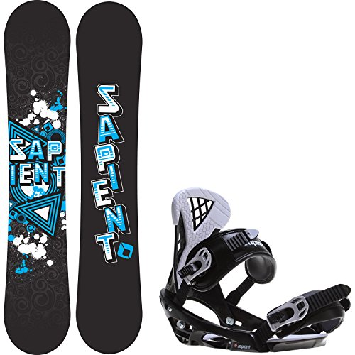Mens Wide Snowboards (Sapient Trust Wide 155 Mens Snowboard + Sapient Wisdom Bindings - Fits US Mens Boots Sized:)