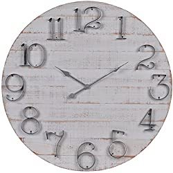 NIKKY HOME Wall Mounted Clock, White