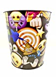 emoji Wastebasket,Colorful, Tin (Black Bullseye