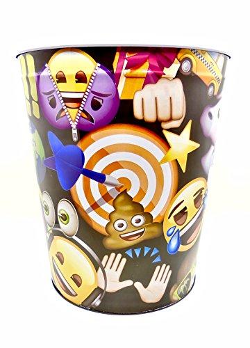 - emoji Wastebasket,Colorful, Tin (Black Bullseye