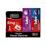 Kit Anillo Vibrador + Lubricantes Original y Pleasure Sico