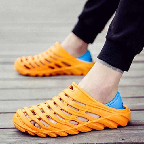 OMEQIUMEI Strand Schuhe Herren Schuhe Sandalen Sandalen Skidproof Höhle Und Coole Hausschuhe orange
