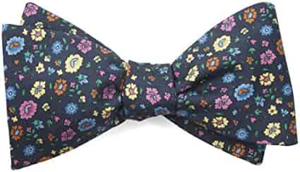 9a107f04e300 The Tie Bar Morrissey Flowers 100% Printed Silk Bow Tie