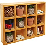 Wooden Freestanding / Wall Mounted 12 Compartment Shadow Box / Display Shelf Shelving Unit - MyGift®