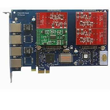 AEX410-3 FXO+1 FXS,VOIP Tarjeta PCI-E de 4 puertos ...