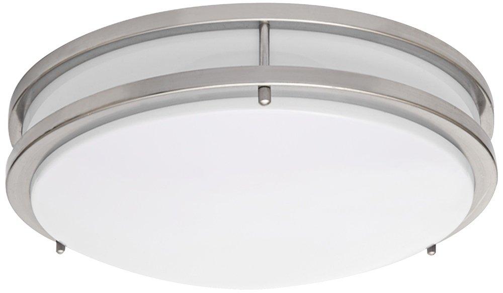 Zaire Brushed Nickel 10 Wide Flushmount LED Ceiling Light