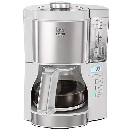 Melitta Look V Timer 1025-07, Cafetera Goteo, AromaSelector, Cafetera Programable, Depósito de Agua Extraíble, Protección 3 en 1 Anti Cal, Moderna, ...