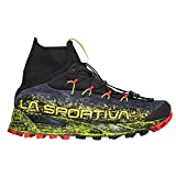 La Sportiva Uragano GTX Mountain Running Shoe, Black/Yellow, 42.5