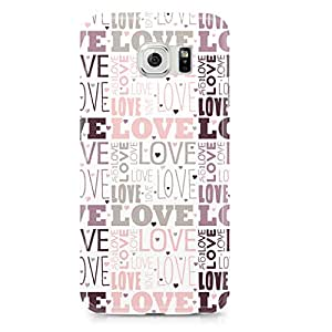 Samsung S6 Edge Case Cute Heart Pattern For Valentines Day And Loved Ones, Great For Girls-Sleek Finish Durable Wrap Around Phone cover 157