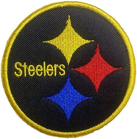 Antrix Tactical Patch of NFL Football Pittsburgh Steelers Sign Logo Applique Fastener Hook and Loop Military Badge Morale Patch for Backpacks Caps Hats Vests Bags