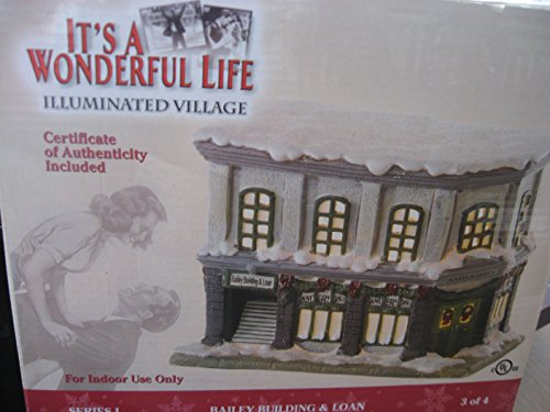 It's a Wonderful Life Illuminated Village Series I Bailey Building and Loan (Building And Loan Its A Wonderful Life)