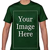 SHAPRE Custom T-Shirt Add Your Own Text Personalized Design Image Printing Men's Shirt ForestGreen 4XL