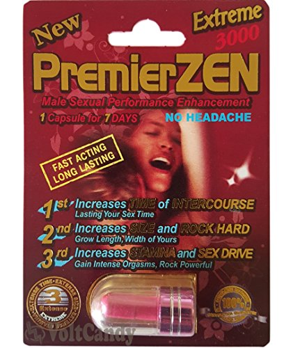 Premierzen Red 3000 Male Sexulal performance 1 capsule for 7 - Pfizer Viagra