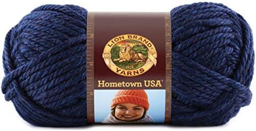 Lion Brand Yarn 135-609 Hometown Yarn, Razorbacks (1 Skein)