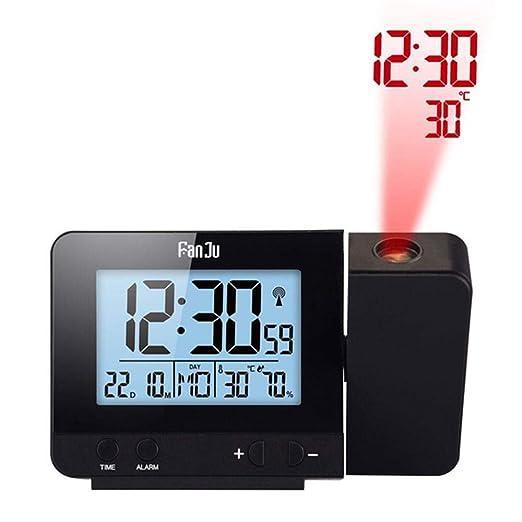 Despertador Proyector Infantil Reloj Despertador Led Proyección ...