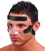 Mueller Face Guard   Protection from Impact Injuries to Nose and Face, Clear, One Size Fits Most