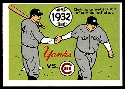 (Baseball MLB 1970 World Series #29 1932 - Yankees vs. Cubs - Lou Gehrig/Babe Ruth EX/NM)