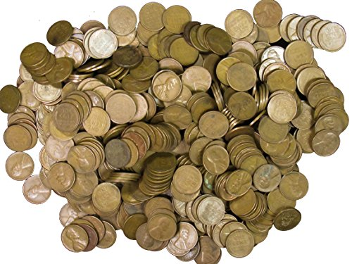 1 - 500 count Grab Bag of Lincoln Wheat Pennies 1909-1958 Unsearched Bag