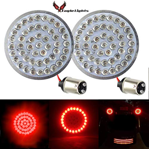 Eagle Lights Rear LED Turn Signals For Harley Davidson (Rear (1157) Turn Signals, No Smoke Lenses) ()