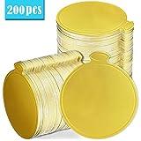 MotBach 200 Pcs Round Golden Cardboard Mousse