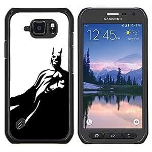 LECELL--Funda protectora / Cubierta / Piel For Samsung Galaxy S6Active Active G890A -- Máscara Negro Blanco Flying --