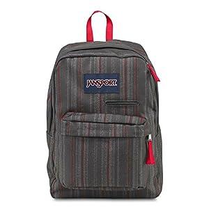 JanSport Unisex Digibreak Red Tape Grunge Stripe Backpack