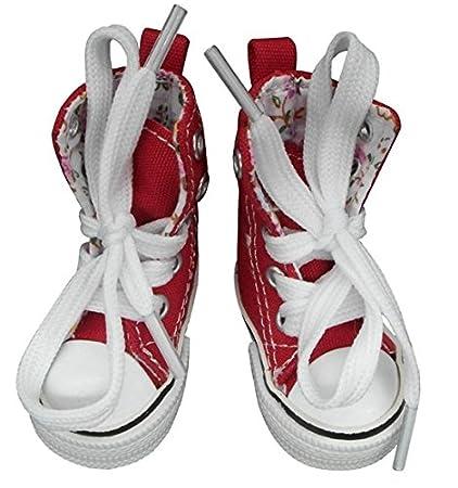 661e1eefdce00 Amazon.com: Red Canvas Shoes For Paola Reina , Tilda,1/3 Bjd Doll ...