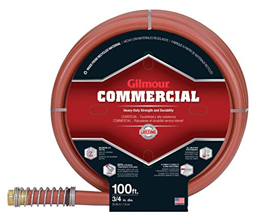 Gilmour 841001-1001 Pro Commercial Hose 3/4 inch x 100 feet, Red