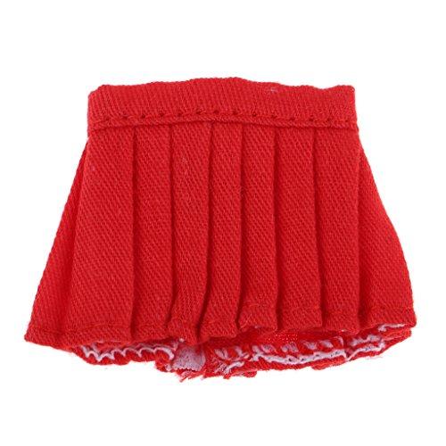 4inch Rouge Mini Poupe de pour Poupes Accessoires Jupe Blythe Unie de Rose Couleur Homyl OxH8wIEqnw