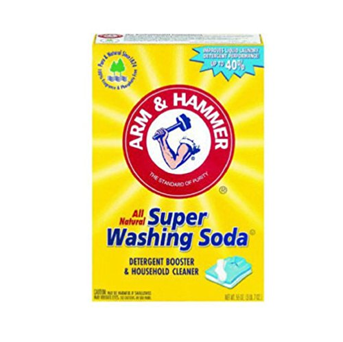 Arm & Hammer Natural Detergent Booster and freshener Super Washing Soda Detergent Booster & Household Cleaner, 55 oz (Homemade Laundry Soap With Borax And Washing Soda)