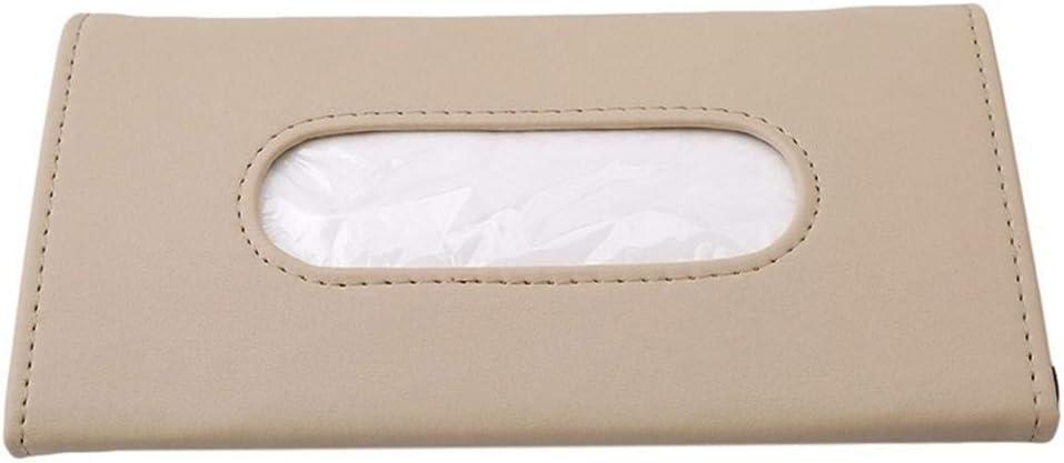 Berkemoon Car Sun Visor Tissue Box PU Leather Auto Clip Holder Paper Napkin Accessories