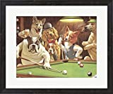 The Hustler by Arthur Sarnoff Framed Art Print Wall Picture, Espresso Brown Frame, 25 x 21 inches