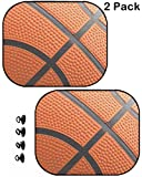 MSD Car Sun Shade Protector Block Damaging UV Rays Sunlight Heat for All Vehicles, 2 Pack Orange Basketball Close up Shot Image 7244134 Customized Tablemats Stain Resistance Col