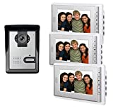 "AMOCAM 7"" LCD Monitor Wired Video Intercom Doorbell Home Security Systems, 1- Camera"