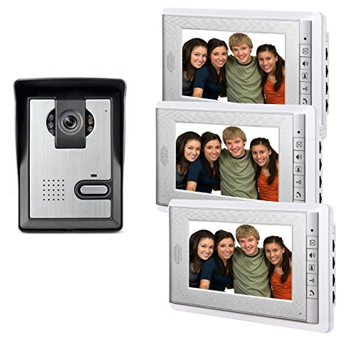 AMOCAM Wired Video Intercom Doorbell System, 3PCS