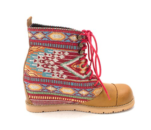 Fabric WARBY by Fashion Moxy Mojo Round Boots Dolce Camel Ankle Toe Womens xXSpwcZ
