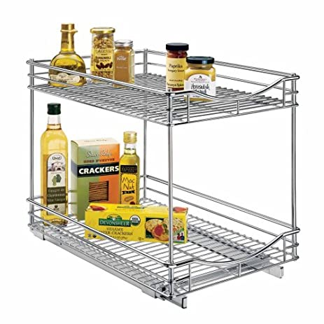 Amazon.com: Lynk Professional Roll Out Double Shelves - Pull Out ...