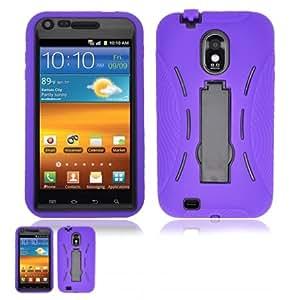 Samsung Galaxy S II D710 Purple and Black Hardcore Kickstand Cas