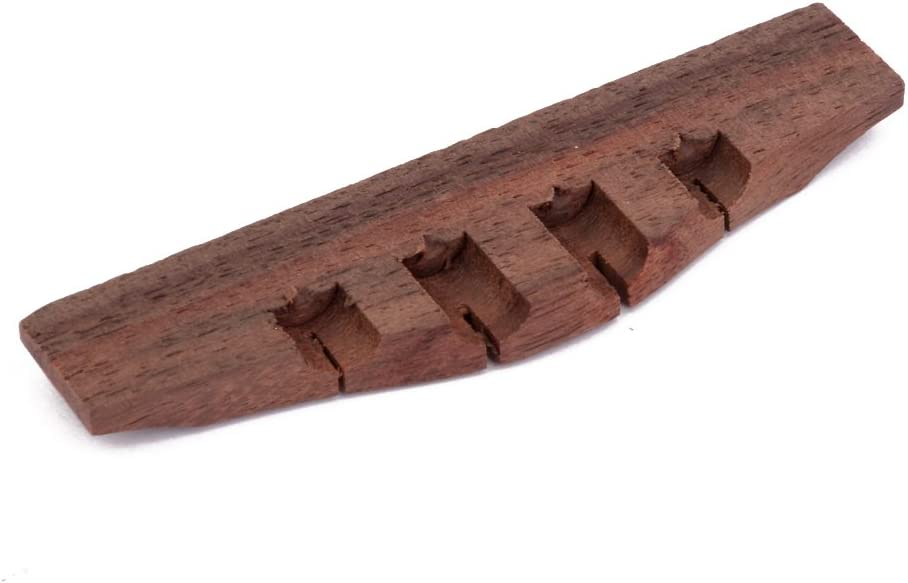 1 Piece Rosewood Ukulele Bridge //42mm string spacing //54mm Saddle