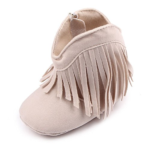 Auxma Für Baby 0-18 Monate,Babyschuhe Stiefel Weiche Sohle Schuhe prewalker (0-6 M, Beige) Beige