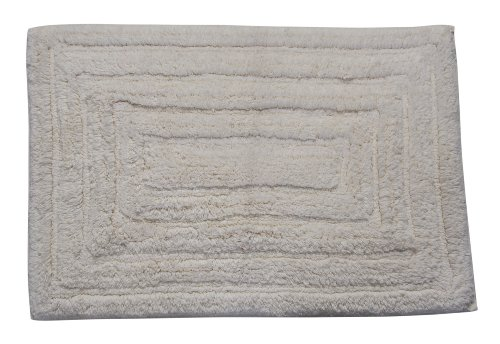 Castle Hill Bath Mat with Spray Latex Backing, Racetrack Design, 17 by 24-Inch, Ivory hot sale 2017