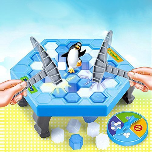FAZHEN Crashed ice game Puzzle table games penguin ice pounding penguin ice cubes save penguin knock ice block wall toys desktop paternity interactive game