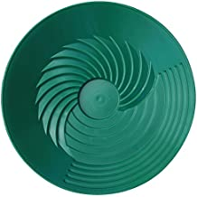 "Turbopan 10"" GREEN Gold Pan VORTEX ACTION! Best and Fastest Gold Pan Great for Backpacking and Cleanup"