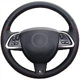 Loncky Auto Genuine Leather Steering Wheel Covers for Jaguar XF 2012 2013 2014 2015 Jaguar XK 2012 2013 2014 2015 Interior Accessories Parts