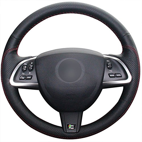 Loncky Auto Genuine Leather Steering Wheel Covers for Jaguar XF 2012 2013 2014 2015 Jaguar XK 2012 2013 2014 2015 Interior Accessories Parts by Loncky