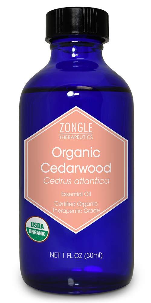 Zongle USDA Certified Organic Cedarwood Essential Oil, Cedrus Atlantica, 1 OZ