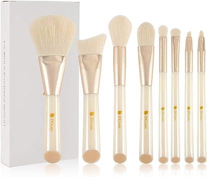 DUcare Brochas de Maquillaje 8 Piezas Maquillaje Cerdas de Fibra Sintética Suaves y sin Crueldad kit Brochas Maquillaje: Amazon.es: Belleza
